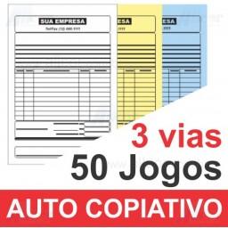 Talão 50 Jogos em 3 vias - 1 cor - 15x21cm - Papel Auto Copiativo 53gr - F16 12990