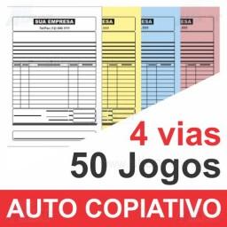 Talão 50 Jogos em 4 vias - 1 cor - 10x15cm - Papel Auto Copiativo 53gr - F32 12998