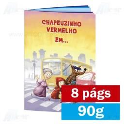 Livreto - 8 páginas - 4x4 cores - 15,0 x 21,0 cm Fechado -  Couché 90g - F8 11902