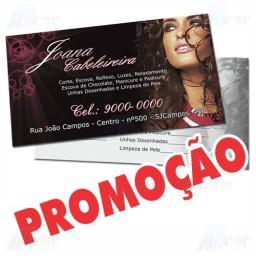 Cartão de Visita - 4x1 - 9x5 cm - Verniz Total - Couché 300g - Pacote 1000un
