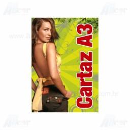 Cartaz 4x0 Colorido - 30x42cm em Papel Couché Brilho ou Fosco 115g - F4 9801