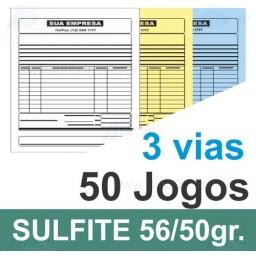 Talão 50 Jogos em 3 vias - 1 cor - 200x220cm - Papel sulfite 56gr/50gr - F12 26510