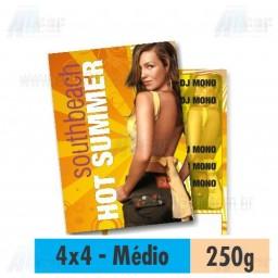 Panfleto - 4x4 cores - 14,5 x 20,0 cm - Couché 250g - F16 11928