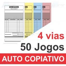 Talão 50 Jogos em 4 vias - 1 cor - 10x21cm - Papel Auto Copiativo 53gr - F24 17682