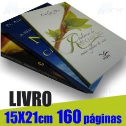 Livro 15,0 x 21,0cm Fechado - Capa Colorida em Cartão Supremo 250gr e Miolo em 1 cor(preto) 160 páginas Polen Soft 70gr - F16 26626