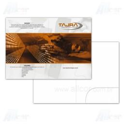 Pasta com Bolsa - 4x0 cores - 22,5 x 31,0 cm Fechado - Cartão Supremo 250g - F4 11964