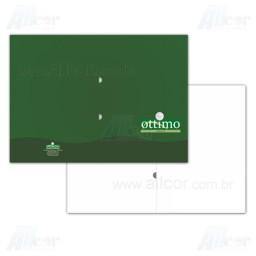 Pasta com Orelha - 4x0 cores - 22,5 x 31,0 cm Fechado - Cartão Supremo 250g - F4 11968