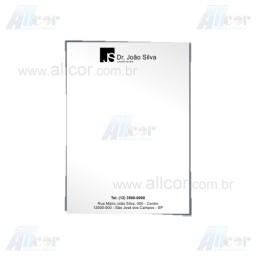Receituário com 50 folhas - 1x0 cor - 15,0 x 21,0cm - Papel sulfite 75g - F16 12008