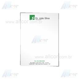 Receituário com 50 folhas - 2x0 cores - 15,0 x 21,0cm - Papel sulfite 75g - F16 12014