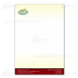 Timbrado - 4x0 cores - 21,0 x 30,0 cm - Sulfite 90g - F8 12302