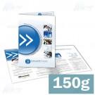Folder 1 ou 2 dobras - 4x4 cores - 21,0 x 30,0 cm Aberto - couché 150g F8 11240