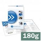 Folder 1 ou 2 dobras - 4x4 cores - 21,0 x 30,0 cm Aberto - couché 180g F8 11242