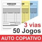 Talão 50 Jogos em 3 vias - 1 cor - 10x15cm - Papel Auto Copiativo 53gr - F32 12996