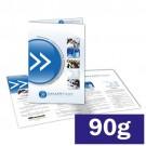 Folder 1 ou 2 dobras - 4x4 cores - 21,0 x 30,0 cm Aberto - couché  90g F8 11034