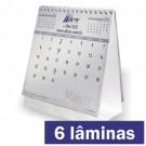 Calendário de Mesa 6 lâminas - Papel Reciclato - Base Colorida - F24 10112