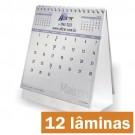 Calendário de Mesa 12 lâminas  - Papel Reciclato - Base Colorida - F24 10100