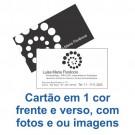 Cartão de Visita - 1x1 cor - 9x5 cm -  Couché brilho 250gr - F96 13012