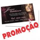 Cartão de Visita - 4x0 - 9x5 cm - Verniz Total - Couché 300g - Pacote 1000un