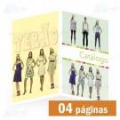 Catálogo 04 Páginas Colorido - A4 30x21cm - Papel Couche Brilho ou Fosco 180g - F4 10096