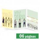 Catálogo 06 páginas Colorido 30x21cm - Papel Couche Brilho ou Fosco 180g - F3 10094