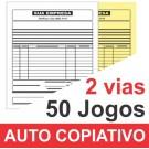 Talão 02 vias - 01 cor - 200x220mm - Papel Auto Copiativo 53gr, pedido, orçamentos, comandas, ordens de serviço