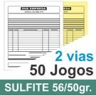 Talão 02 vias - 01 cor - 200x220mm - papel sulfite 56g, pedido, orçamentos, comandas, ordens de serviço