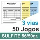 Talão 03 vias - 01 cor - 200x220mm - papel sulfite 56g, pedido, orçamentos, comandas, ordens de serviço
