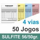 Talão 04 vias - 01 cor - 200x220mm - papel sulfite 56g, pedido, orçamentos, comandas, ordens de serviço