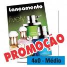 Panfletos 4x0 - 14,5x20cm - Couché 90g - 2500un