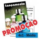 Panfletos 4x1 - 14,5x20cm - Couché 90g - 2500un