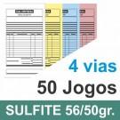 Talão 50 Jogos em 4 vias - 1 cor - 10x21cm - Papel sulfite 56gr/50gr - F24 17676