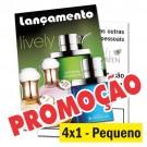 Panfletos 4x1 - 10x14,5cm - Couché 90g - 2500un
