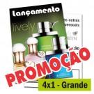 Panfletos 4x1 - 21x30cm - Couché 90g - 2500un